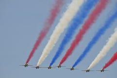 Acrobazie aeree dell'aereo da caccia di ROCAF Fotografia Stock