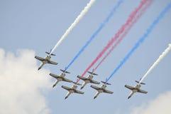 Acrobazie aeree dell'aereo da caccia di ROCAF Fotografie Stock Libere da Diritti