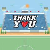 Acrobazie della carta dello stadio grazie - Fotografia Stock