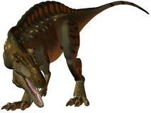 Acrocanthosaurus-3D Dinosaur Royalty Free Stock Images