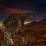 Acrocanthosaurus-3D Dinosaur Stock Photography
