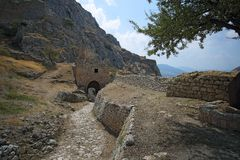 Acrocorinth das alte Korinth Lizenzfreies Stockbild