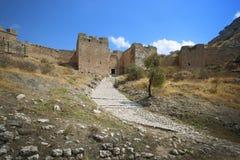 Acrocorinth das Schloss von mittelalterlichem Korinth Lizenzfreies Stockbild