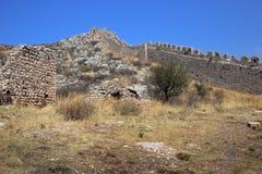 Acrocorinth die Akropolis von Korinth Stockfoto
