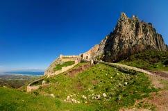 Acrocorinth fästning Fotografering för Bildbyråer
