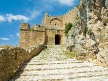 Acrocorinth Festungsgatter Lizenzfreie Stockfotografie