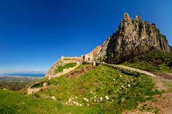 Acrocorinth fortress Stock Image