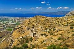 Acrocorinth, Griechenland Lizenzfreie Stockbilder