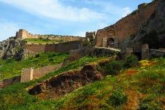 Acrocorinth, Korinth lizenzfreies stockbild