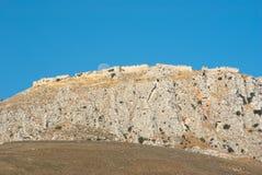 Acrocorinth Versterkte Berg, Griekenland Royalty-vrije Stock Foto's