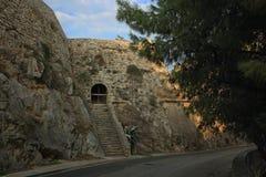 Acronafplio堡垒在Nafplion,希腊 库存照片