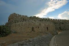 Acronafplio堡垒在Nafplion,希腊 图库摄影