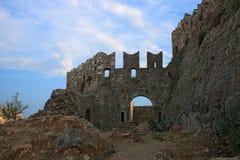 Acronafplio堡垒在Nafplion,希腊 库存图片
