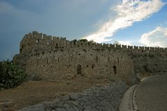 Acronafplio-Festung in Nafplion, Griechenland Stockfotografie