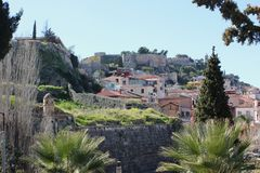 Acronauplia the oldest part of the city of Nafplio in Greece. Europe stock images