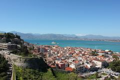 Acronauplia the oldest part of the city of Nafplio in Greece. Europe royalty free stock photography