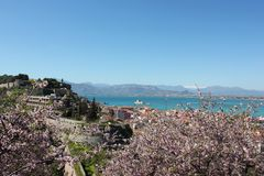 Acronauplia the oldest part of the city of Nafplio in Greece. Europe royalty free stock photos
