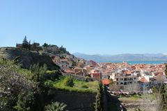 Acronauplia the oldest part of the city of Nafplio in Greece. Europe stock photos