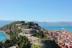 Acronauplia the oldest part of the city of Nafplio in Greece. Europe stock photo
