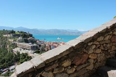 Acronauplia the oldest part of the city of Nafplio in Greece. Europe stock photography