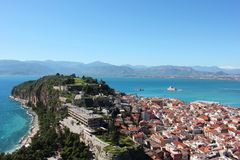 Acronauplia the oldest part of the city of Nafplio in Greece. Europe royalty free stock photo