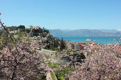 Acronauplia the oldest part of the city of Nafplio in Greece. Europe stock image