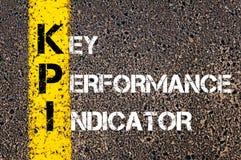 Acroniem KPI - Zeer belangrijke Prestatie-indicator royalty-vrije stock foto