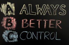 Acronym of ABC - always better control Stock Image