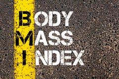 Acronym BMI - Body Mass Index Stock Photos