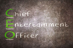 Acronym of CEO - Chief Entertainment Officer Stock Photo