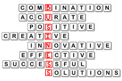 Acronym concept of business -combinative,accura te,positive,crea Stock Image