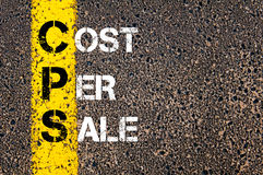 Acronym CPS - Cost Per Sale Royalty Free Stock Image