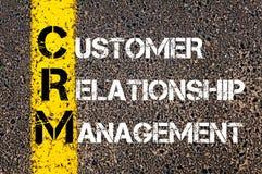 Acronym CRM - Customer Relationship Management Stock Image