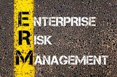 Acronym ERM - Enterprise Risk Management Stock Images