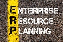 Acronym ERP - Enterprise Resource Planning Stock Images