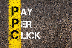 Acronym PPC - Pay Per Click Stock Photography
