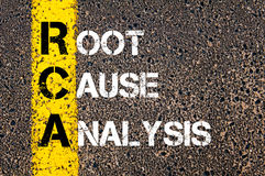 Acronym RCA - Root Cause Analysis Royalty Free Stock Photo