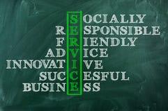 Acronym of service concept royalty free stock photos