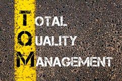 Acronym TQM - Total Quality Management Royalty Free Stock Image