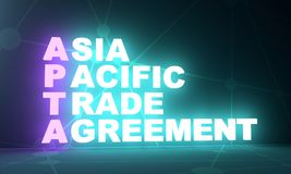 Acronyme d'accord commercial d'Asia Pacific illustration libre de droits