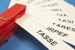 Acronyms taxes Stock Photo