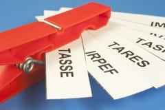 Acronyms taxes Royalty Free Stock Photo