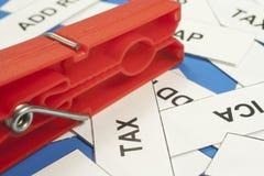 Acronyms taxes Stock Image