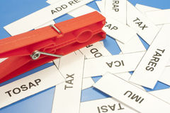 Acronyms taxes Stock Photography