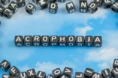 Acrophobia choroba Fotografia Stock