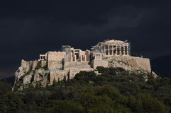 Acropole avant la tempête Photo stock
