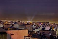 Acropole d'énergie d'Athènes images libres de droits
