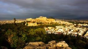 Acropole d'Atena Grecia Photos libres de droits