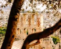Acropole d'Athènes, monument architectural, attraction touristique image stock