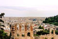 Acropole d'Athènes, monument architectural, attraction touristique image libre de droits